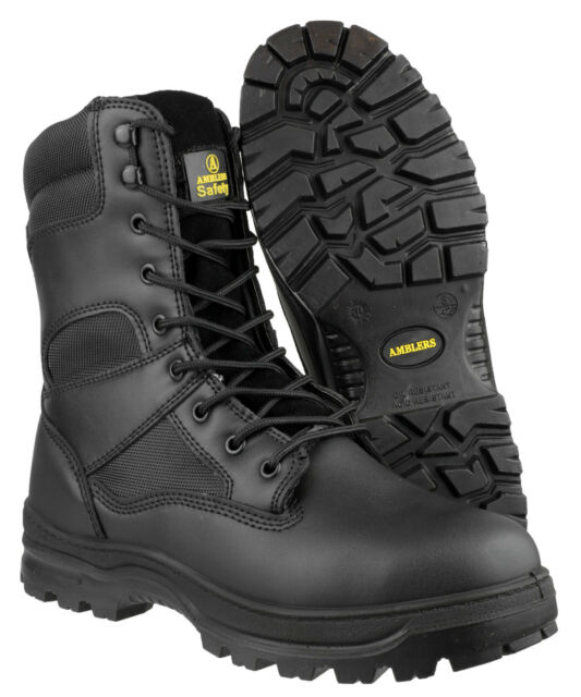 De-branded Steel Toe Cap Safety Chainsaw Wellington Boots EU43 UK9 HKV1752