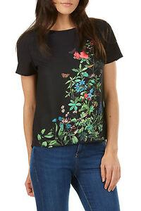 Sugarhill-Boutique-Womens-Jocelyn-Garden-Floral-Top-Black-Multi-RRP-38-00