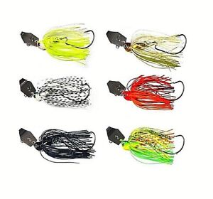 6x-Chatterbait-Lures-Swim-Jigs-Fishing-Skirted-Spinnerbait-Bass-Cod-Perch-Trout