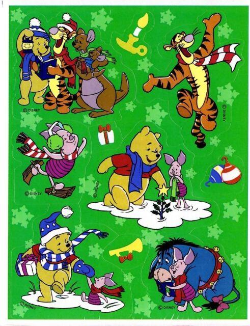 disney winnie the pooh christmas winter snow stickers single sheet acid free - Pooh Christmas