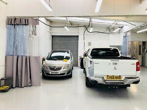 Grey Clear Heat Welded Spray Booth Garage Car Repair