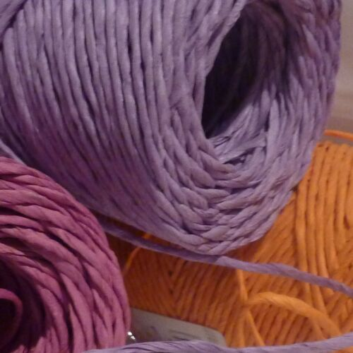 Floristry CORD craft coated Wire Sold by length 3 colours lilac pink orange