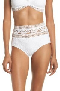 a3456d6040fb3 BECCA Captured White Lace High Waist Bikini Bottoms 7909 Size Large ...