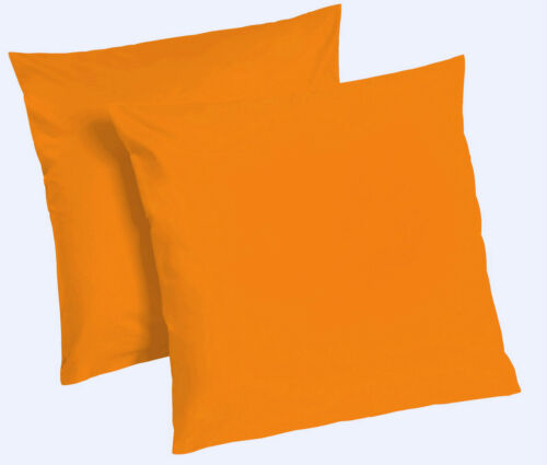 2er Pack Microfaser Kissenhülle Kissenbezug Deko Kissen Bezug Bezüge Farbwahl RV