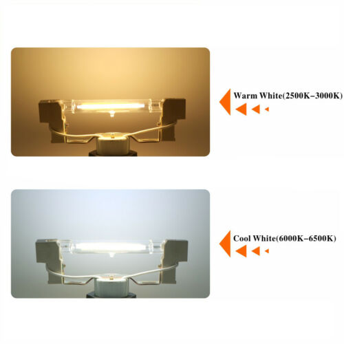 R7S LED Dimmable Glass Tube Light COB Bulbs 78//118mm 6W 12W Instead Halogen Lamp