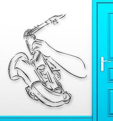 Wall Sticker Vinyl Decal Saxophone Music Jazz Blues Musical Instrument (ig2193)
