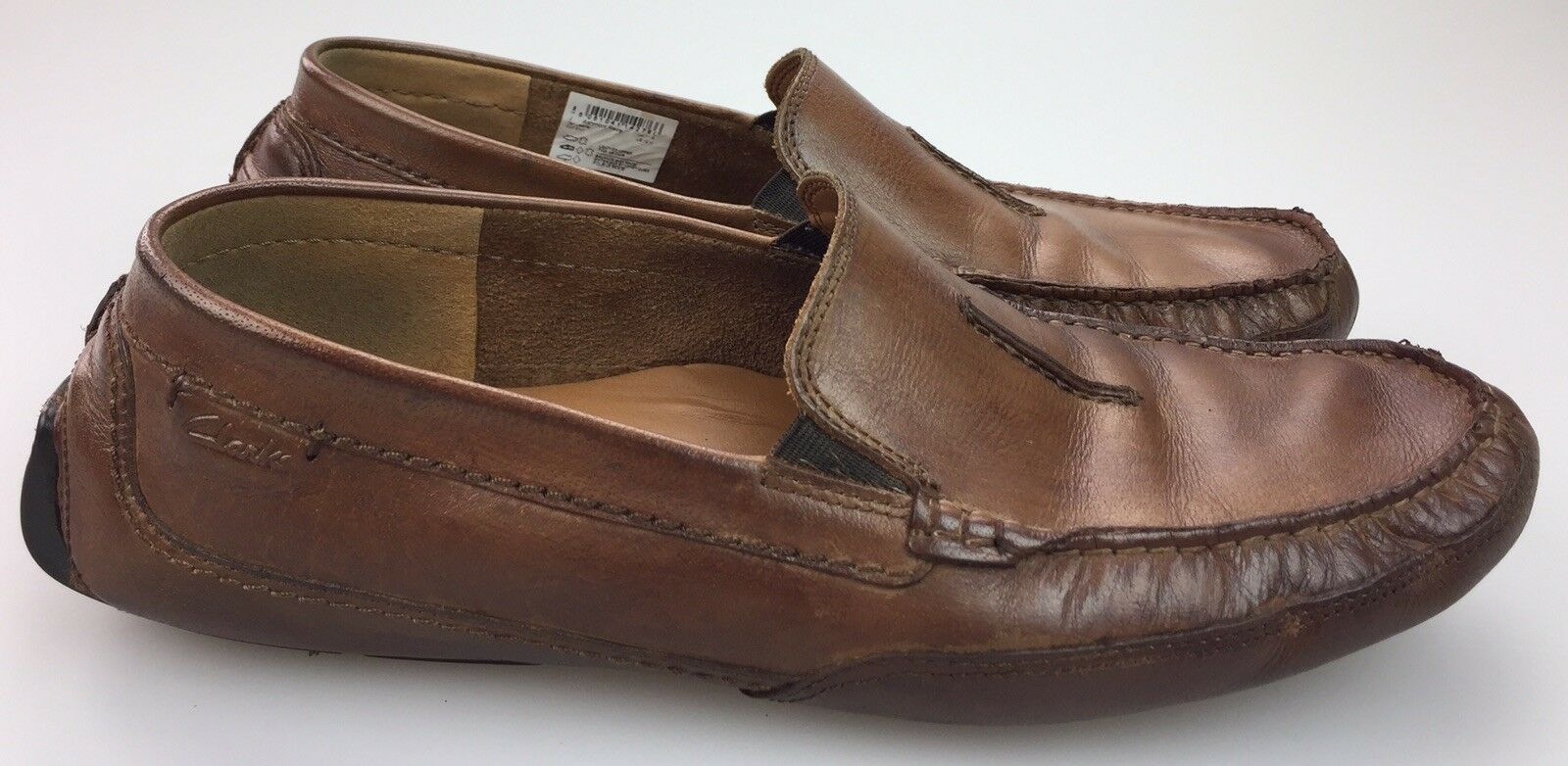 CLARKS Mansell Brown Leather Men's