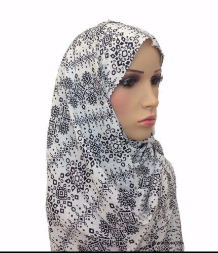 GRANDE Cotone Floreale Hijab Avvolgere Sciarpa Scialle pratico e gentile con la pelle