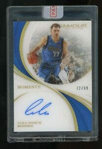 2018-19-Immaculate-Acetate-Moments-Luka-Doncic-RC-Rookie-AUTO-72-99-Mavericks
