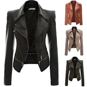 Giacca-Corta-Giubbotto-Donna-Similpelle-PU-Leather-Woman-Short-Jacket-JAC0016-P