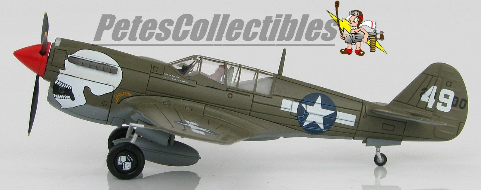 HOBBY MASTER HA5503 Curtiss P-40N Warhawk 80th FG 89th  FS A.V. Naggaghuli Base  10 jours de retour