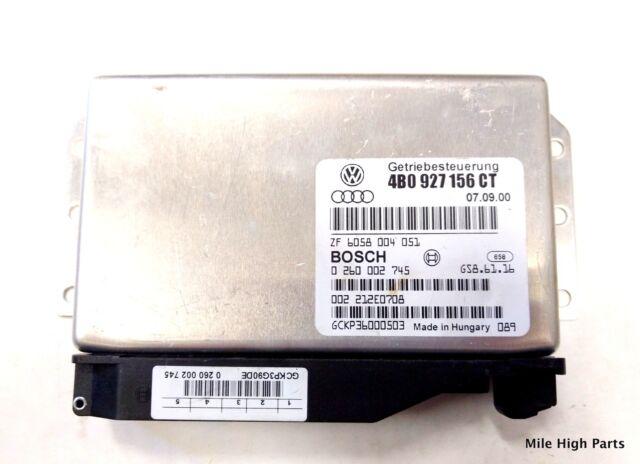 00-01 AUDI A6 2.8 TRANSMISSION CONTROL UNIT MODULE TCU TCM 4B0 927 156 AK