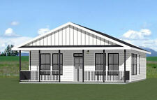 28x36 House -- 3 Bedroom 2 Bath -- 1,008 sq ft -- PDF Floor Plan -- Model 1D
