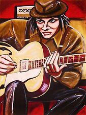 IT MIGHT GET LOUD PRINT poster jack white stripes kay archtop guitar the edge cd