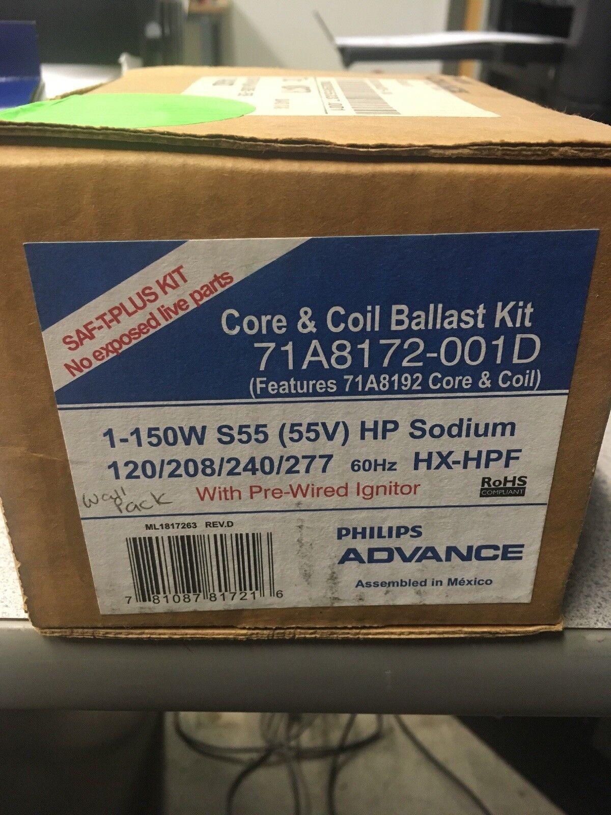 NEW ADVANCE 71A8172-001D BALLAST CORE & COIL KIT 71A8172001D NEW 175W