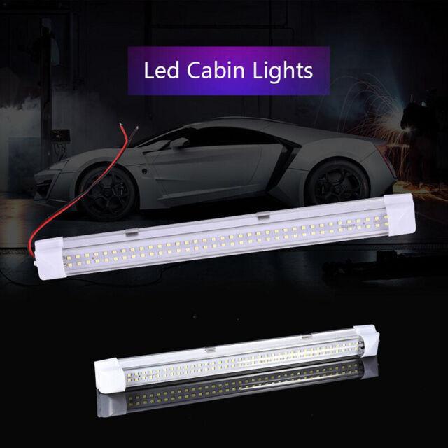 72 LED 12V Car Interior White Strip Lights Bar Lamp Van Caravan ON OFF Switch xk