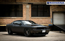 22x9 +15 22x10.5 +18 Rohana RC10 5x115 Black Rim Fit Dodge Challenger Staggered