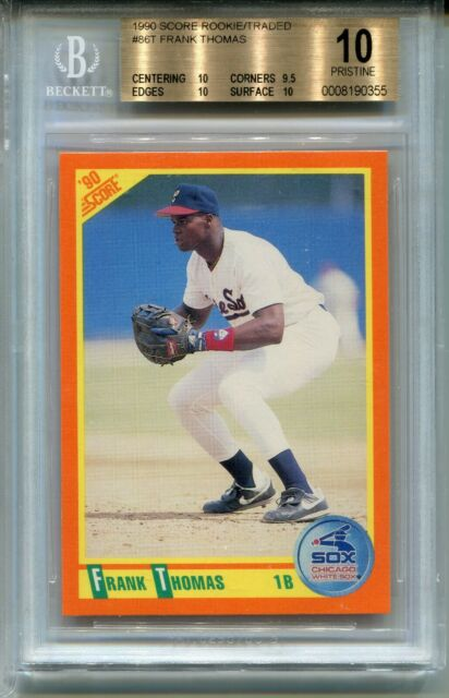 1990 Score Baseball Rookie Traded 86t Frank Thomas Card Rc Bgs 10 Pristine
