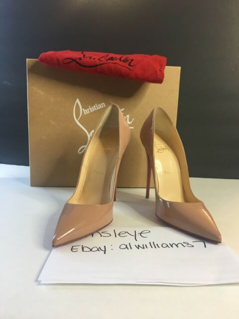 358f93fd5ecb Christian Louboutin so Kate 120 Patent Leather PUMPS Nude Size 39 ...