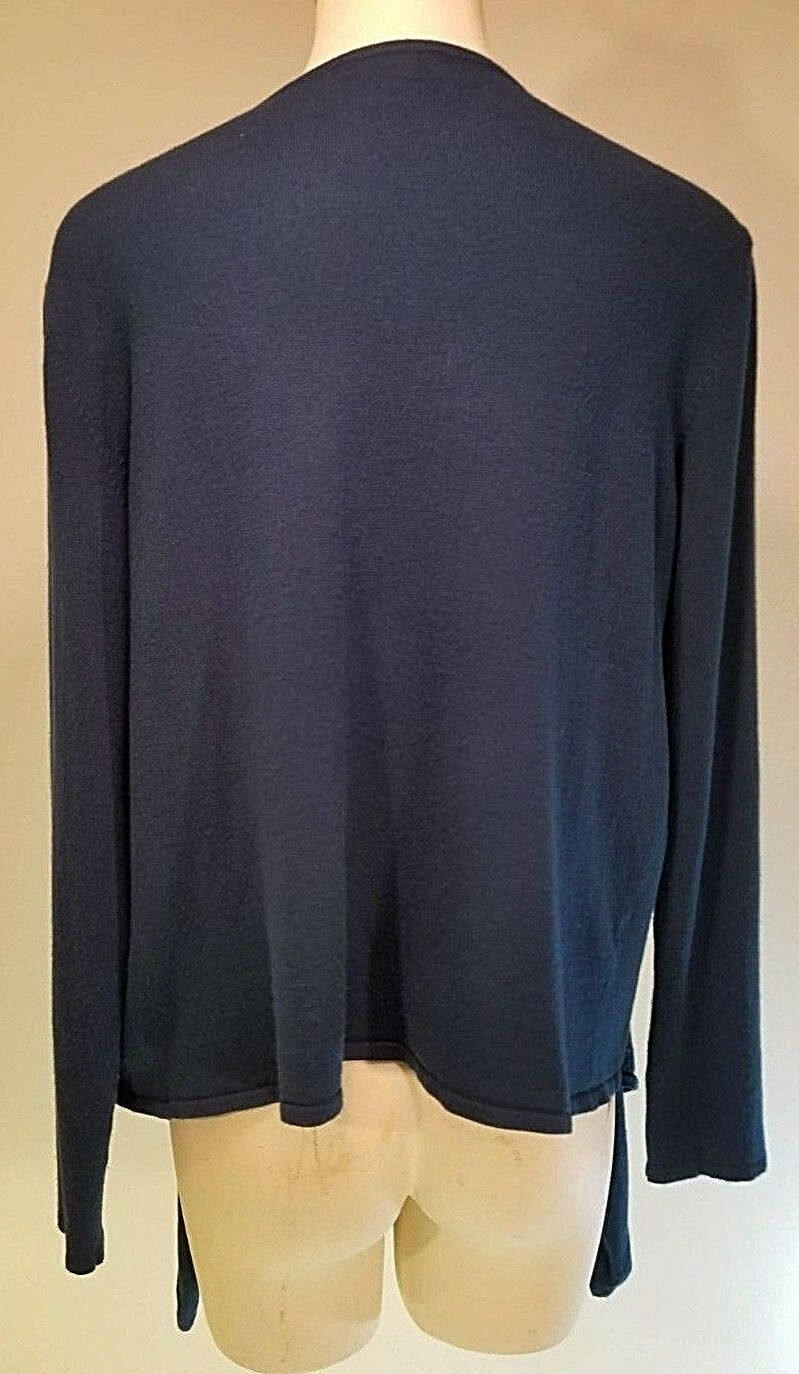 Sandro Long Sleeve Cardigan Sweater - Size XL - - - bluee - Tie in Front 6dc945