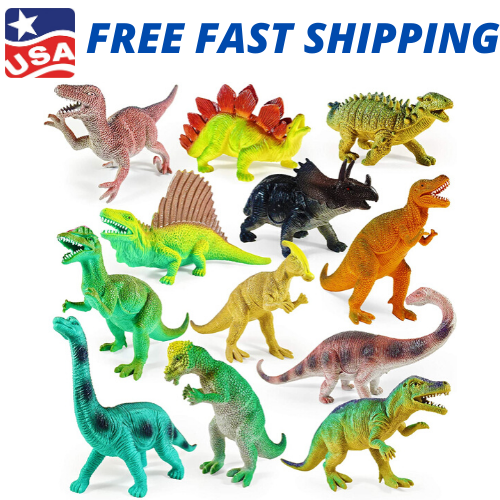 12 Pack Dinosaur Learning Toys Figures Assorted Realistic Party Educational Kids