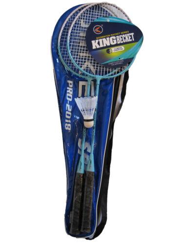 Badminton Schläger Federball Set Badmintonschläger Federballspiel mit Tasche NEU