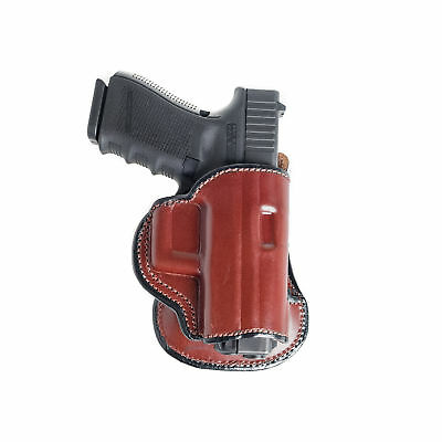 "Paddle Holster For Springfield Xd 4.5"" Owb Leather Paddle W/ Adjustable Cant. Sporting Goods Holsters, Belts & Pouches"