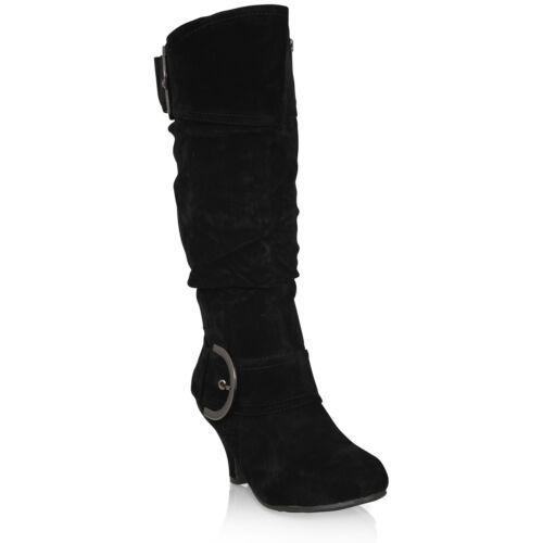 Damenschuhe Mid Heel Winter Twin Buckle Zip Calf Schuhes Knee Riding Ladies Schuhes Calf 638ff8
