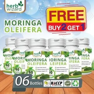 6-X-60-Moringa-Oleifera-organico-Leaf-Extract-10-000mg-servir-comprimidos-de-100-Puro