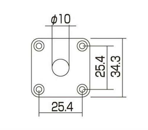 Les Paul Plastic Jack Plate With Matching Screws Black