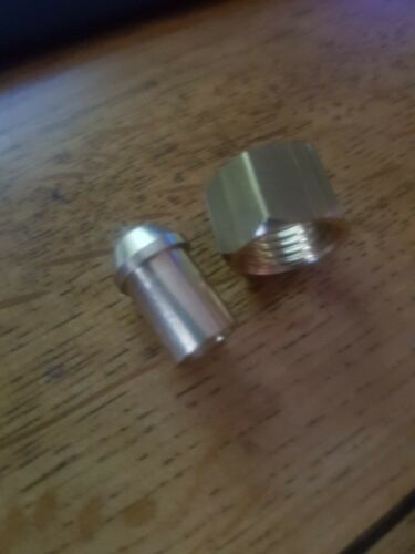 "1x Solder Nut /& Nipple Solder  Copper Petrol Fuel Pipe 1//4/""BSPx1//4/"" Tube OD"