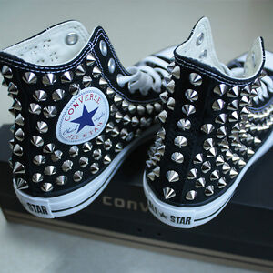 How To Put Spikes On Converse Shoes