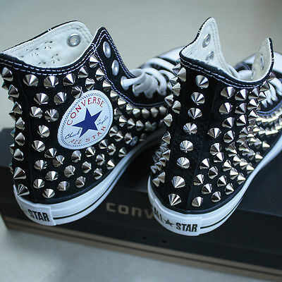 Genuine CONVERSE All-star with studs Sneakers Sheos Black