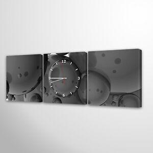 Das Bild Wird Geladen Wanduhr Modernes Design Lautlos Wohnzimmer Leinwand  Mehrteilig Uhr037