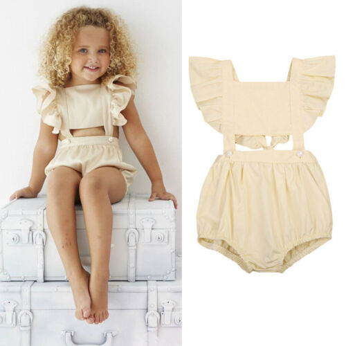 Summer Toddler Baby Girl Kid Outfit Bodysuit Romper Jumpsuit Sunsuit Clothes UK