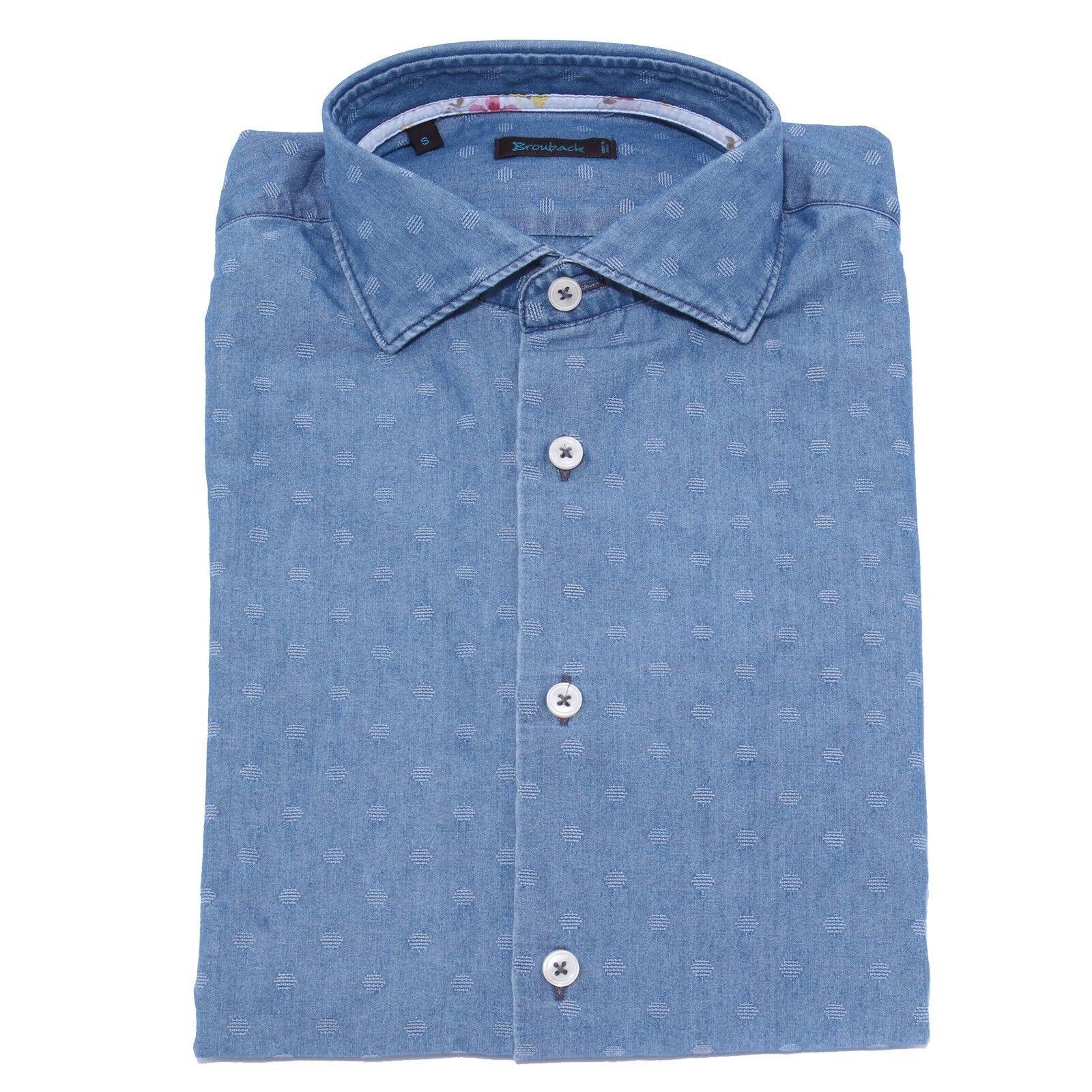 5078Y camicia uomo BROUBACK TEXTURED SHIRT light blu cotton man