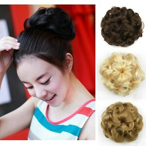 Lady clip in drawstring bun hairpiece wavy curly short hair image is loading lady clip in drawstring bun hairpiece wavy curly pmusecretfo Gallery