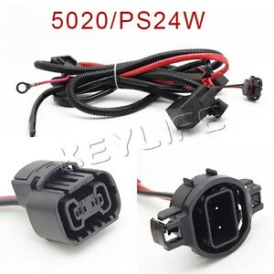 5202 2504 ps24w h16 adapter fog lights relay wiring harness for chevy dodge etc ebay 4 Blade Wiring Harness Connectors Auto Mobile Wiring Connectors