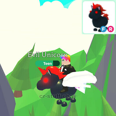 Adopt Me Roblox Evil Unicorn Fly And Ride Ebay