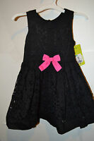 Infant Toddler Girls Genuine Kids Osh Kosh Dress Size 18m Ebony Lace