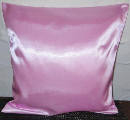Coussin Taie d/'Oreiller Satin Brillant Satin Polyester Satin taille 40x40 cm beaucoup de couleurs