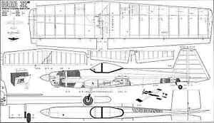 Audacieux Aviomodelli Baga 32 Aerobatic C/l Plan-afficher Le Titre D'origine Finement Traité
