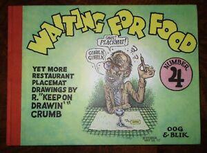 Waiting-for-Food-4-Yet-More-Placemat-Drawings-Robert-Crumb-2008-RARE-OOP