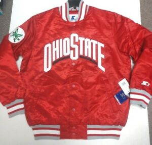 Starter-Ohio-State-Men-039-s-Satin-Vasity-Jacket-Red-Pick-Size-New-with-Tags