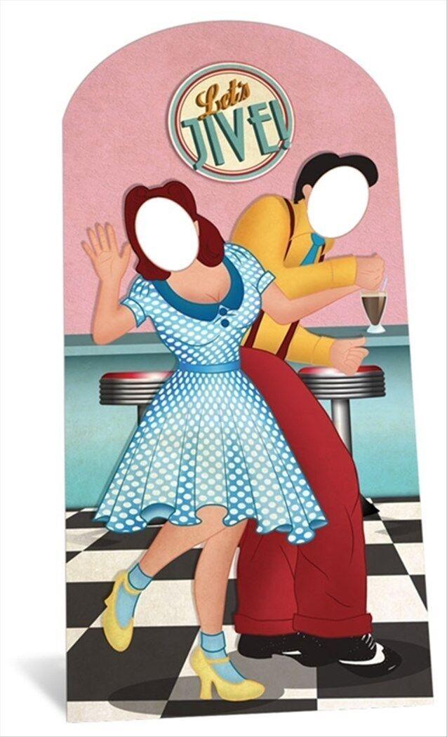 1950er Schaukel Tänzer Lebensechte Größe Karton Stand Ausschnitt Aufsteller