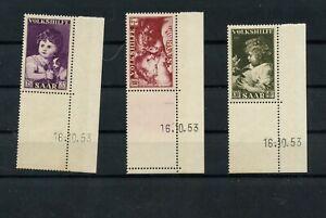 Germany-Saar-Saarland-vintage-yearset-1953-Mi-344-Br-346-Br-Mint-MNH-2