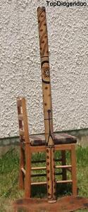 """Analytique Avec Esthétique Défauts 59 """" Didgeridoo + Sac + Cire D'abeille Embout RafraîChissement"""