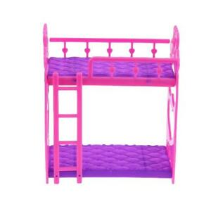 Beautiful-Plastic-Bunk-Bed-Bedroom-Furniture-Bed-Set-for-Barbie-Dolls-Dollhouse