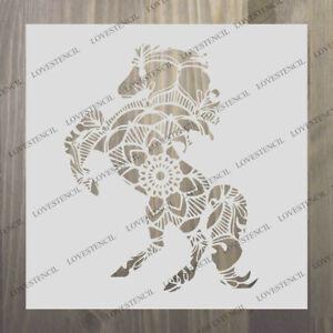Mandala Cheval Stencil Craft Tissu Meubles Verre Wall Art Jusqu A A0 Ebay
