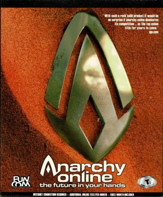 Anarchy Online The Future Is In Your Hands Pc Sealed Retail Big Box